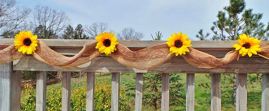 Ideas para decorar con girasoles