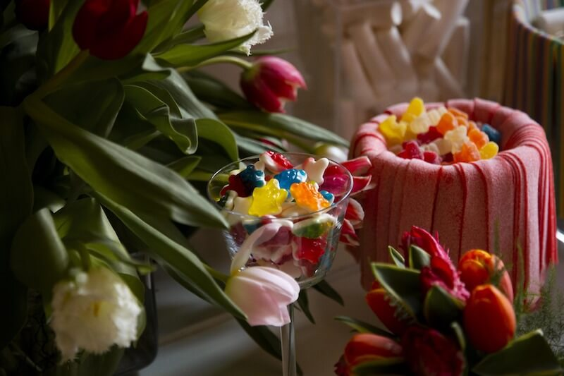 tulipanes en candy bar